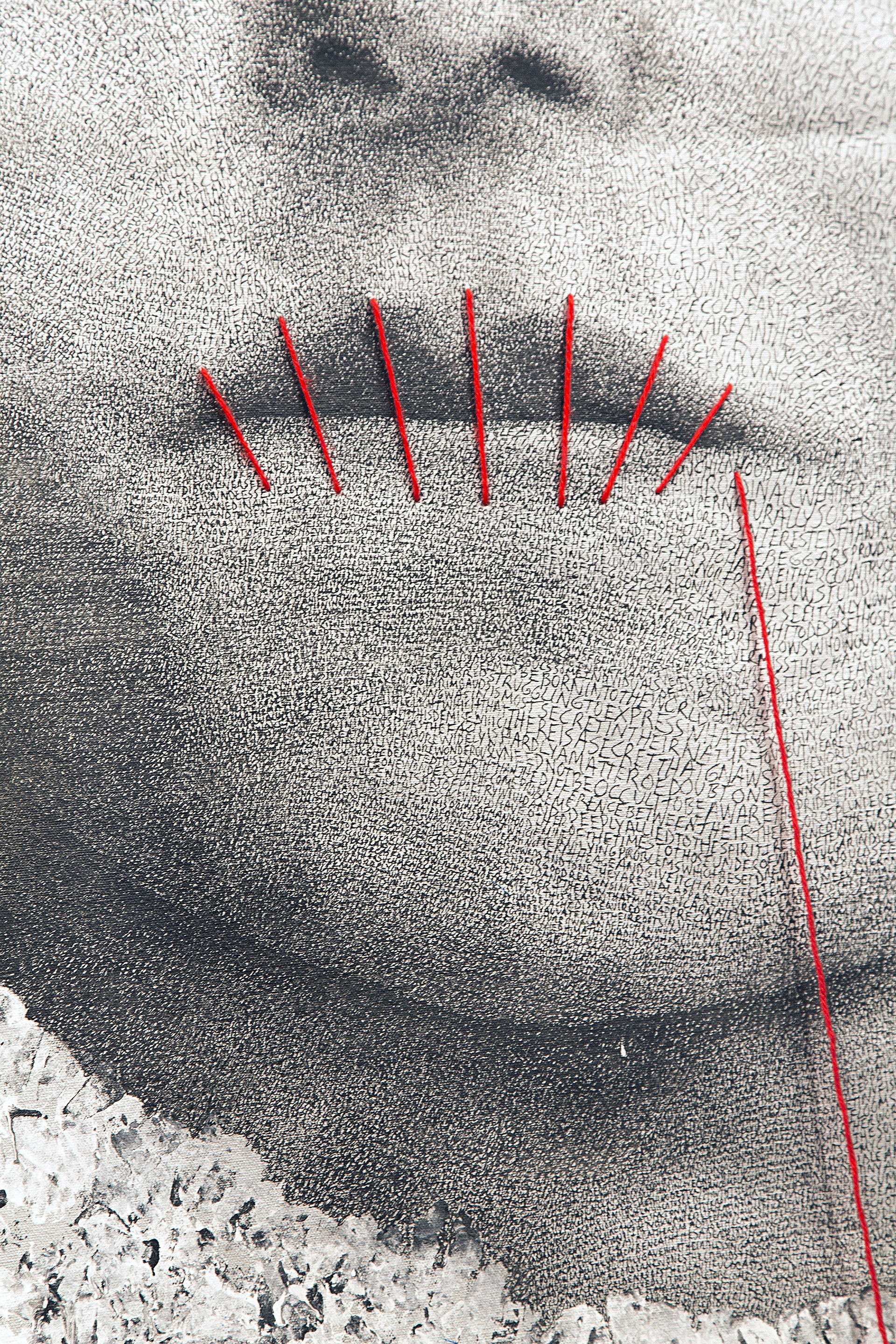 Portrait Detail III (sewn lips)