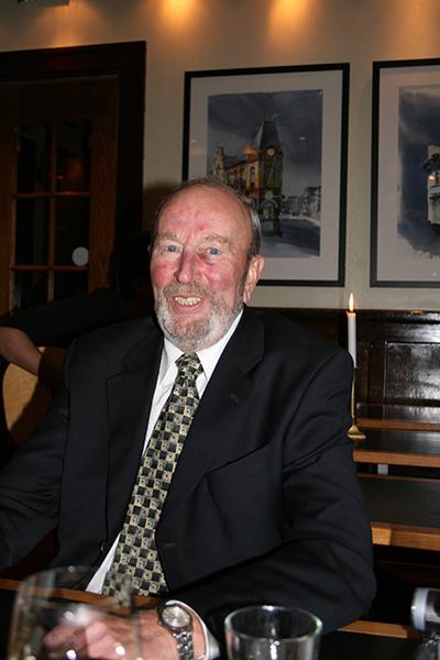 Hilde's dear uncle Eilert Eilertsen, who opened the exhibition.