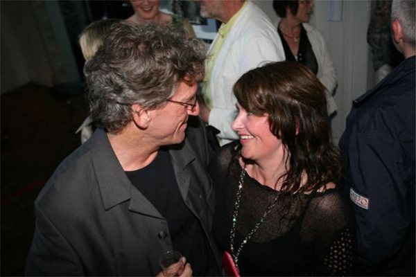 Hilde at the opening with Ola Magne Løkholm, director of the cultural centre in Harstad