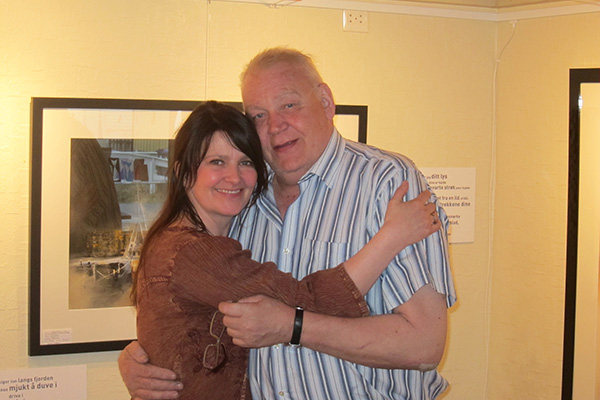 Takk kjære Torgeir for at du åpnet utstillingen min. Fred over ditt minne!