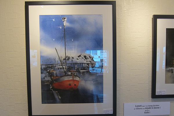 """The painting """"Polar star""""."""