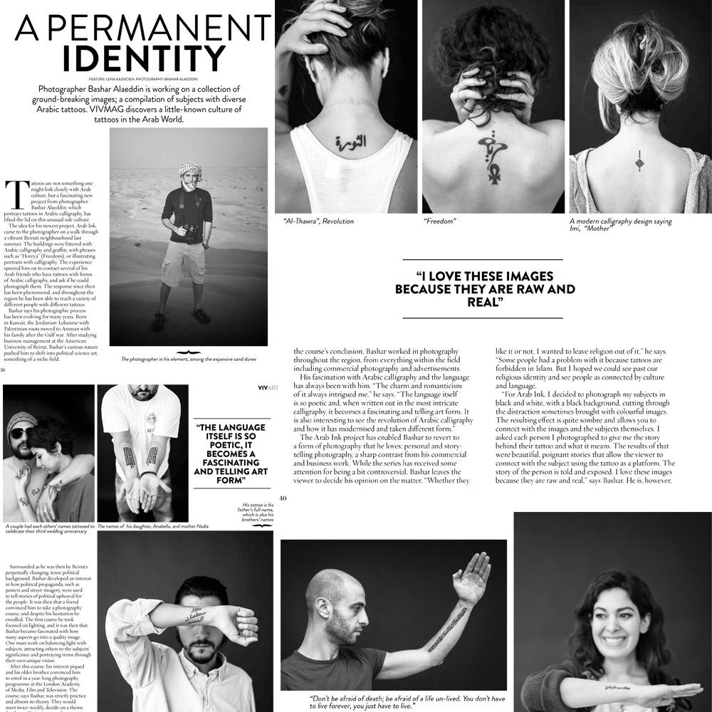 Interview in  VIVMag 's June 2014 issue, Amman, Jordan