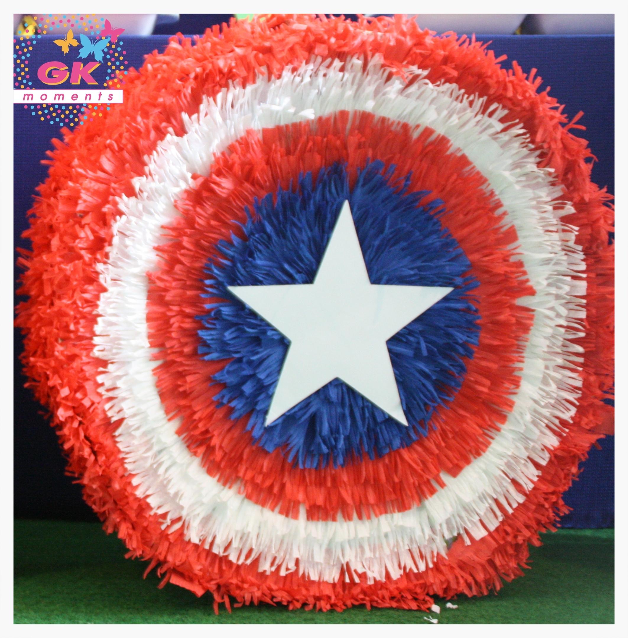Captain America shield Pinata