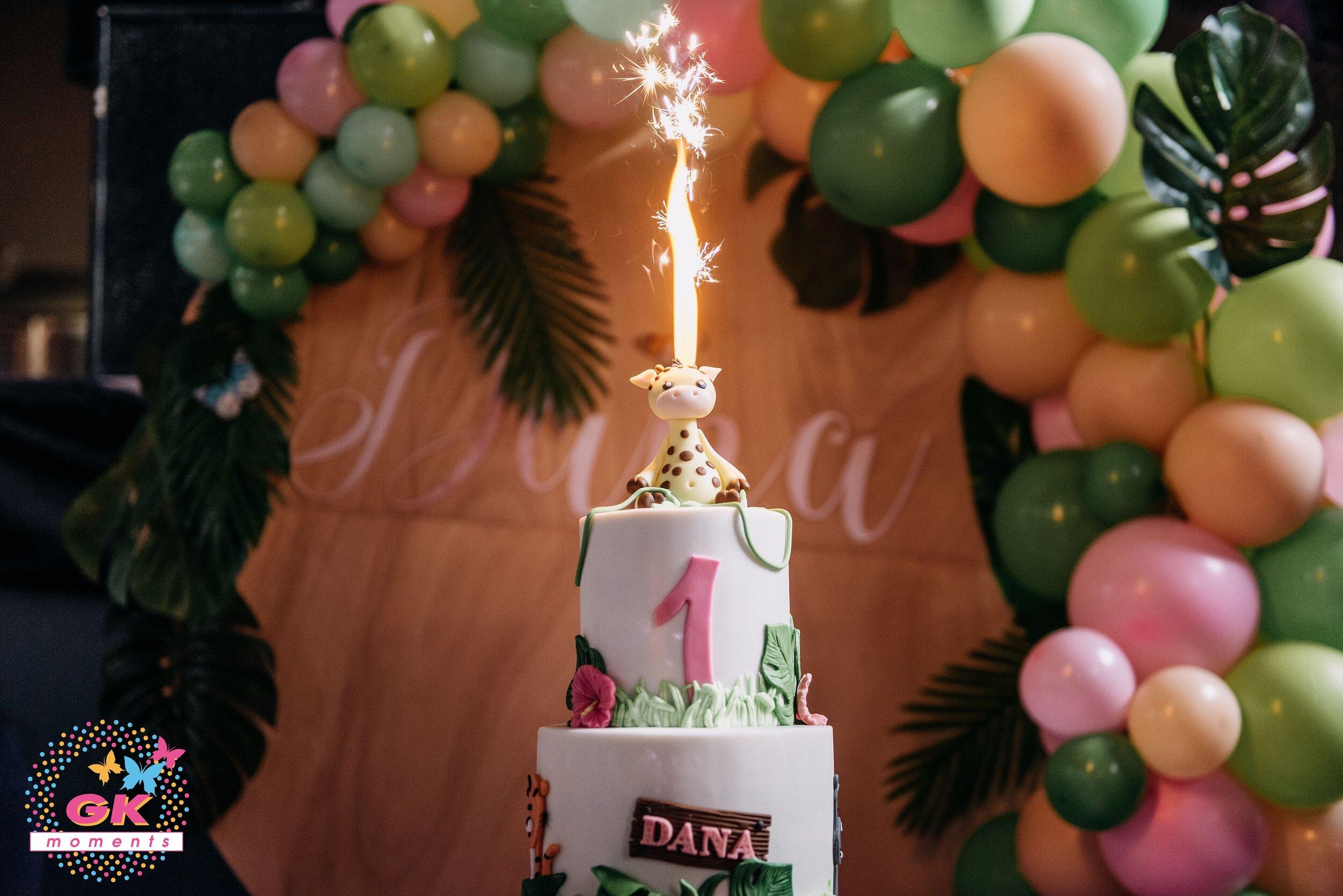 Pink Safari 1st themed Birthday Party