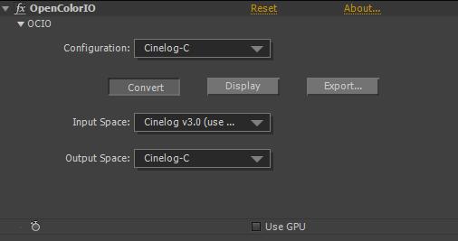 FNord's OpenColorIO plugin interface