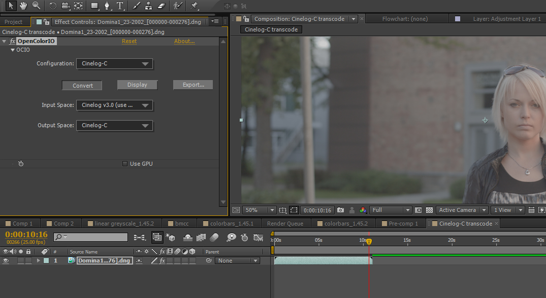 Transform from Cinelog V3.0 to Cinelog-C Colorspace