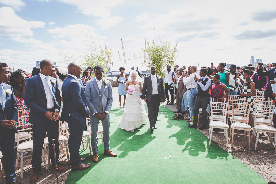 Walking down the aisle at Trinity Buoy Wharf