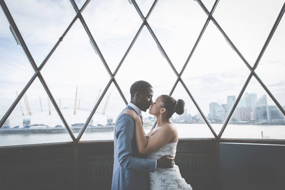 Wedding Photographer London Michael Photographs newlyweds.