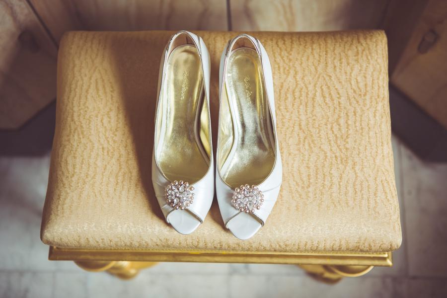 My Beautiful Bride photographs wedding shoes at Eltham Palace