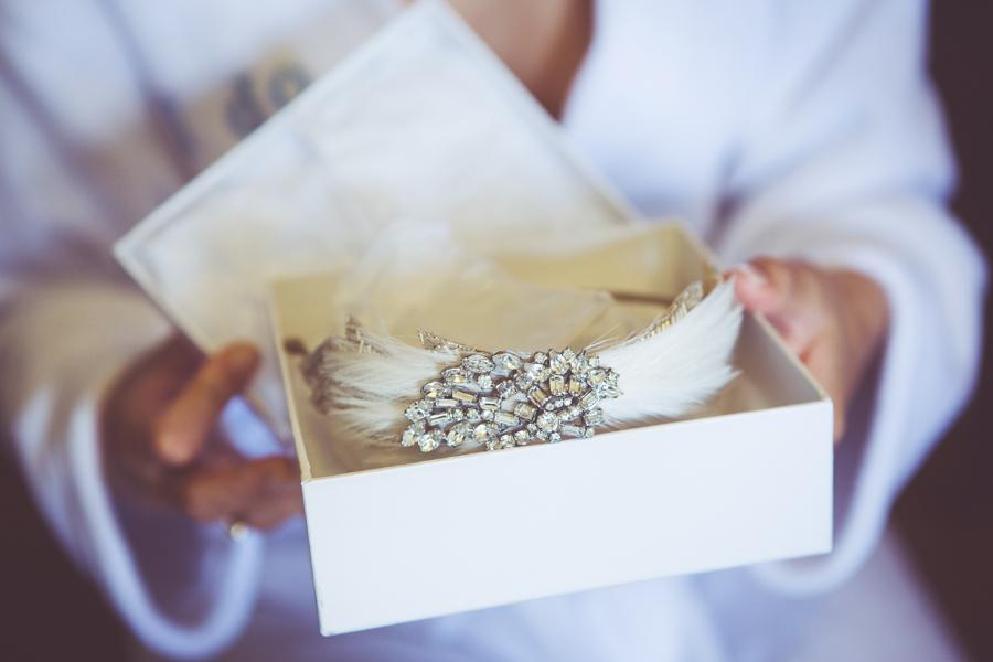 Brides Art Deco headband by Donna Crain