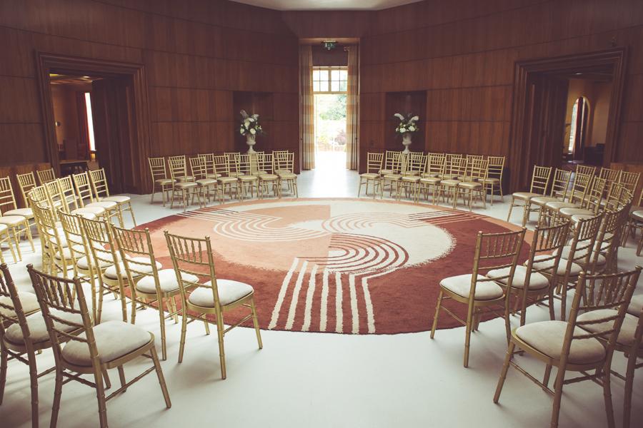 Art Deco hall at Eltham Palace