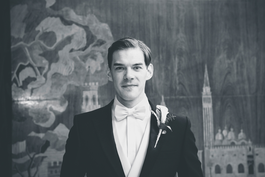 Groom in Art Deco hall, Eltham Palace