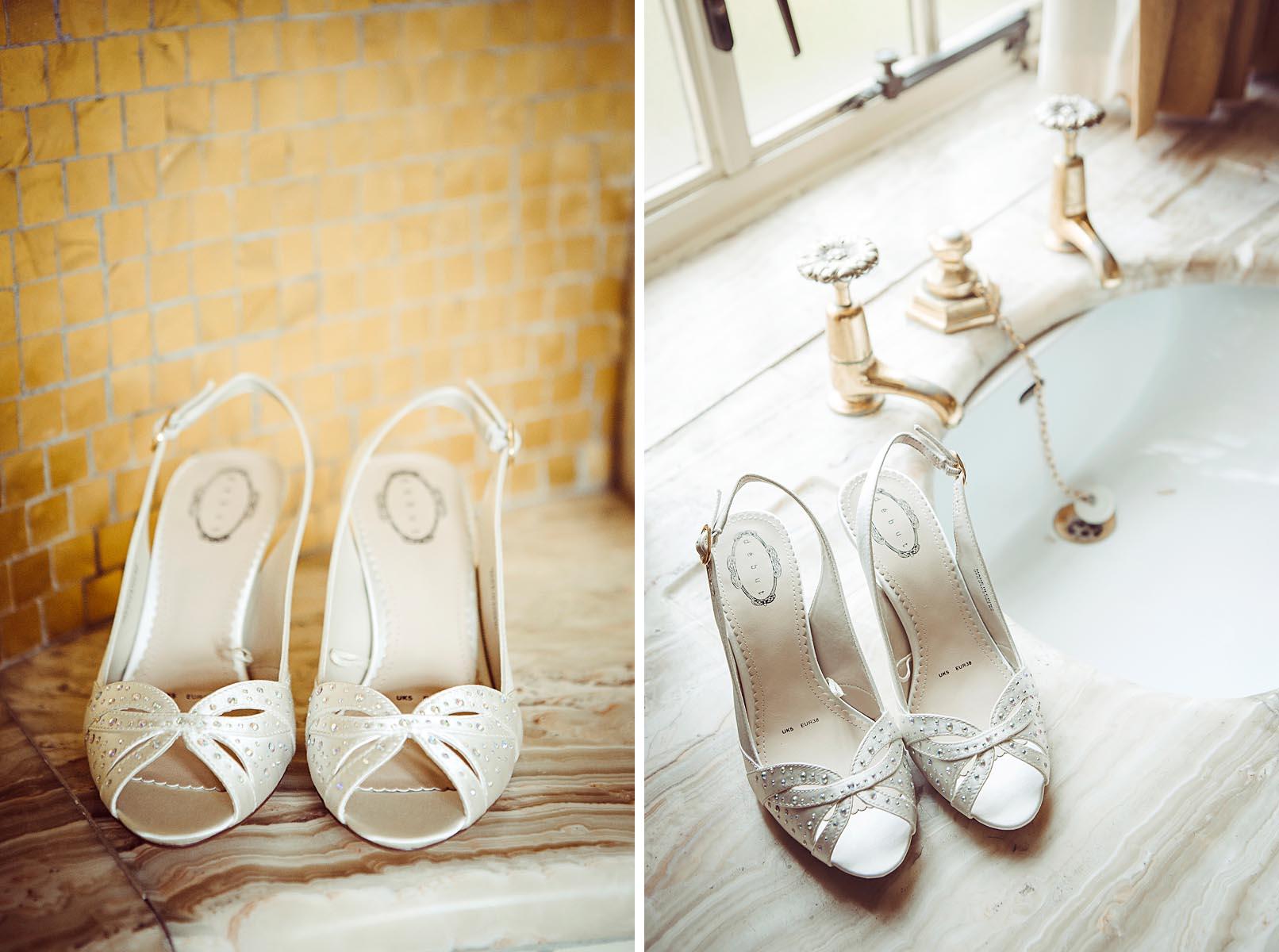 wedding shoes at Eltham Palace