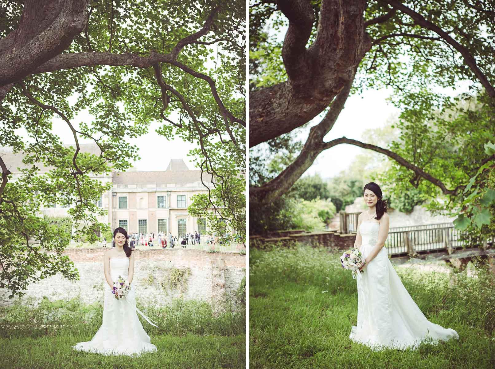 My Beautiful Bride photographs the bride at Eltham Palace