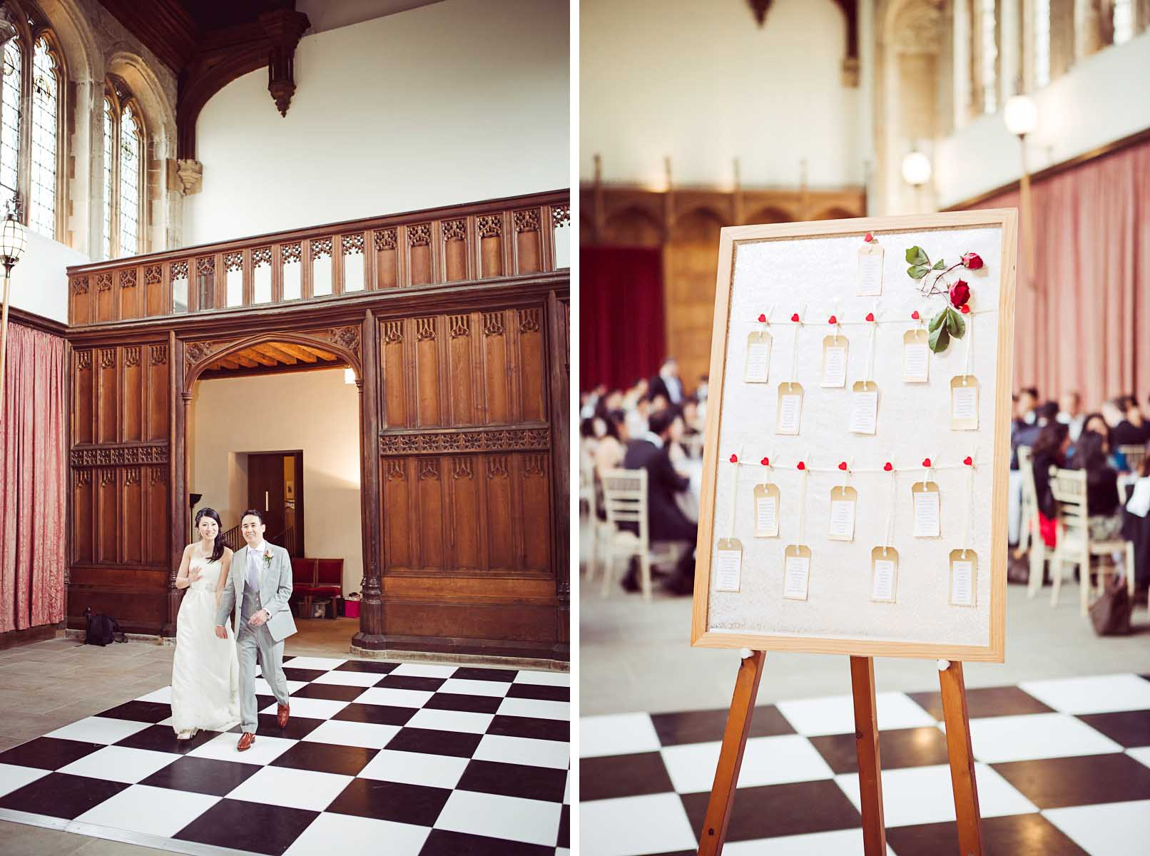 Guests table plan Eltham Palace