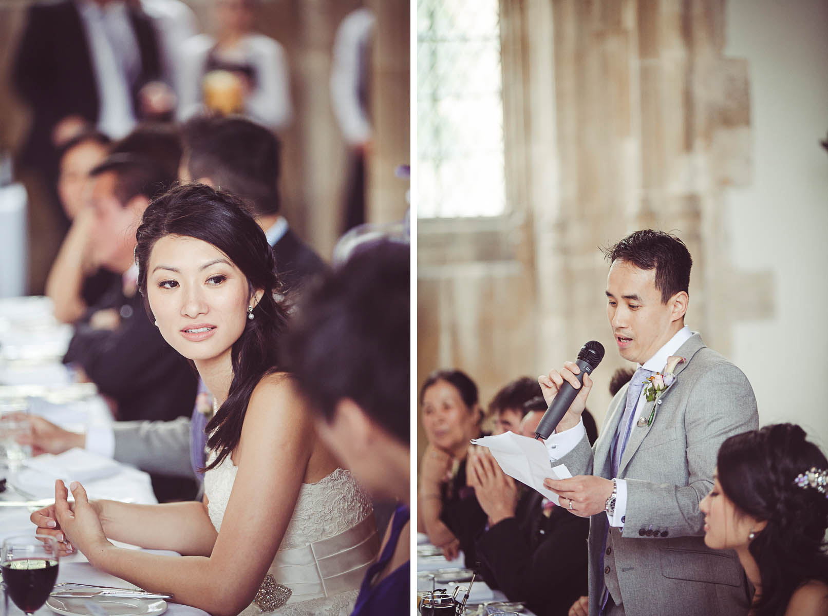 Grooms speech in The Great Hall