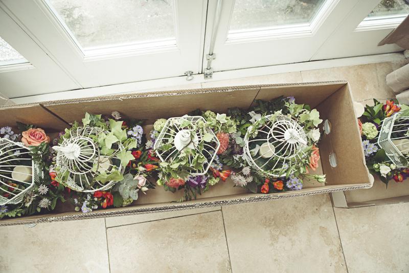 wedding flowers at Eltham Palace