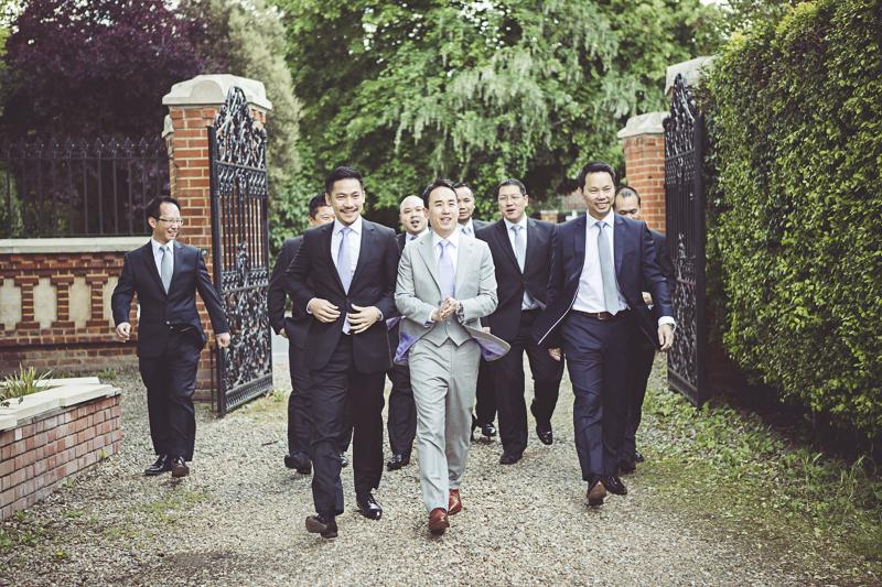 groom and Ushers arrive at Eltham Palace
