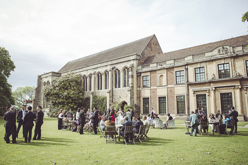 Drinks on the lawn at Eltham Palace