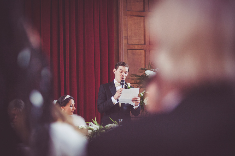 My Beautiful Bride photographs the Grooms speech at Eltham Palace