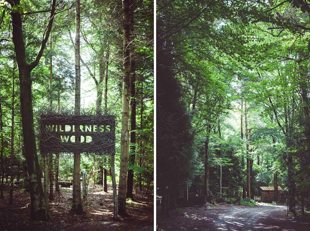 Wilderness wood wedding venue