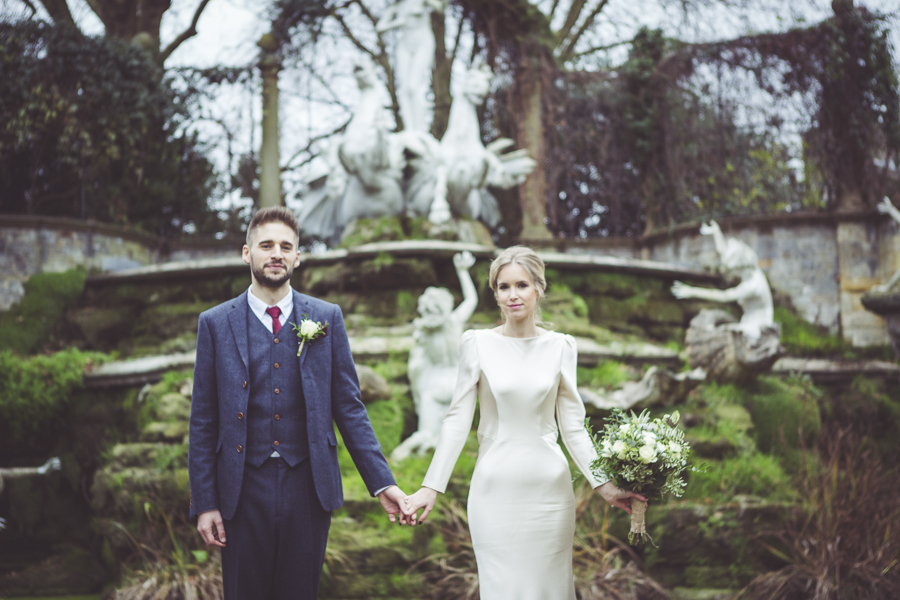 Winter wedding at Orleans House Twickenham photographed by My Beautiful Bride