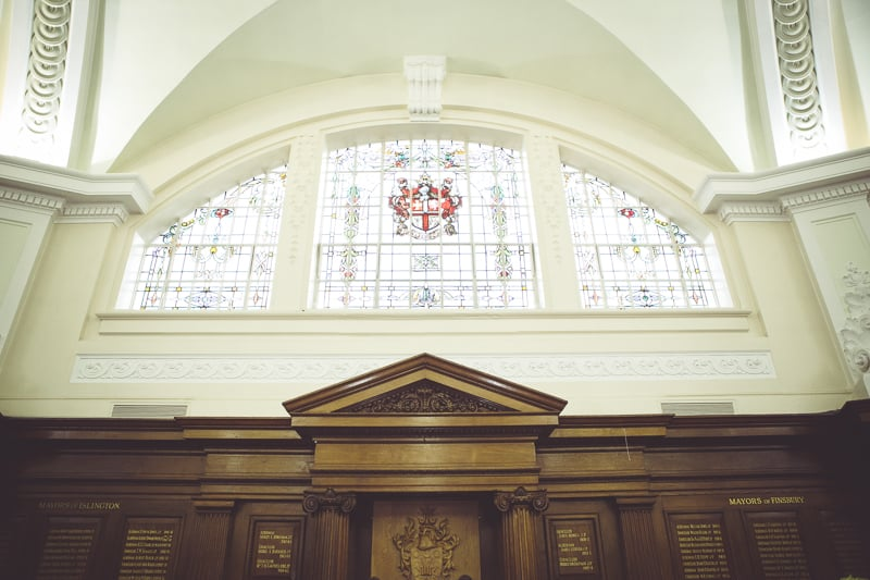 The grand chamber Islington Town Hall