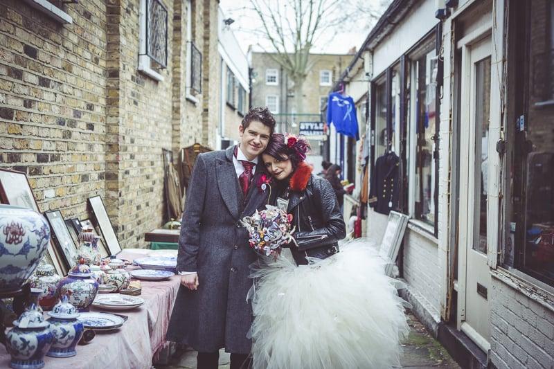 Wedding pictures in Camden Market