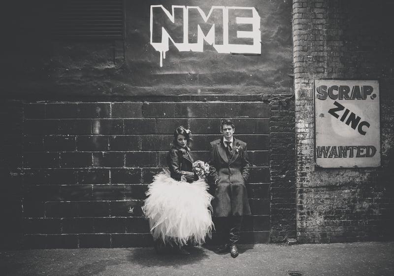 Rock n roll bride and groom