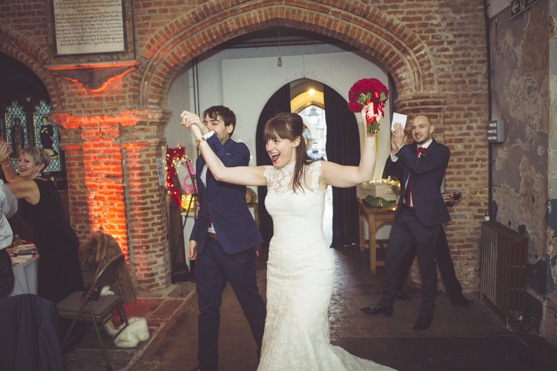 Entrance of the bride and groom