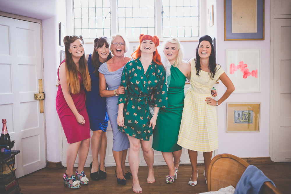Mel and Craig's Psychedelic 1950s wedding