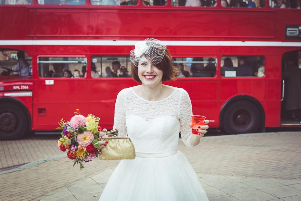 Dani and Marks' Balham Bowls Club wedding