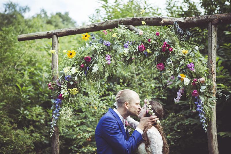 Ellie and Alex's woodland wedding