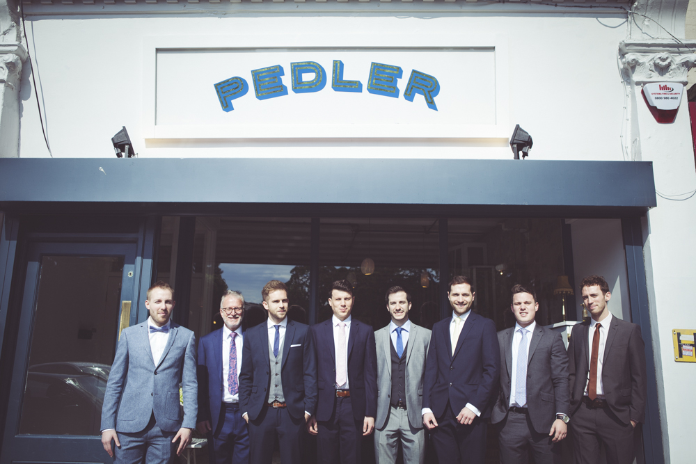The groomsmen's brunch at The Pedler Peckham Rye