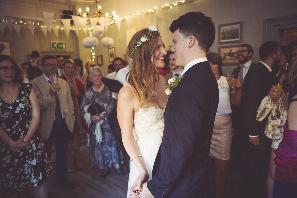 Bride and groom first dance at The Rosendale Pub