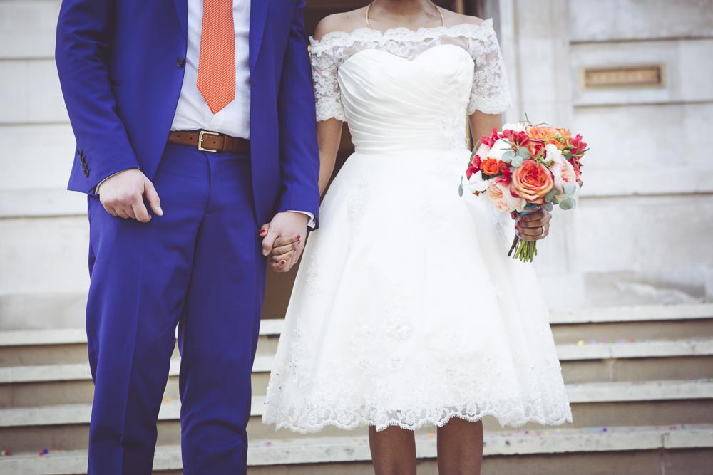 Hackney bride and groom