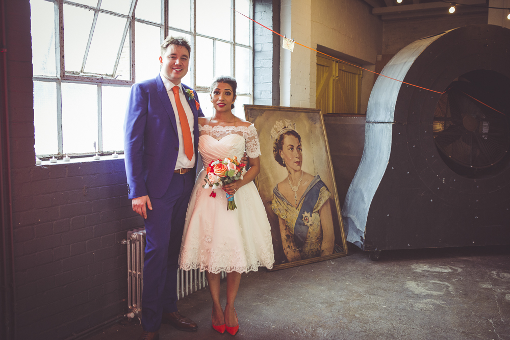 Greenwich groom and bride