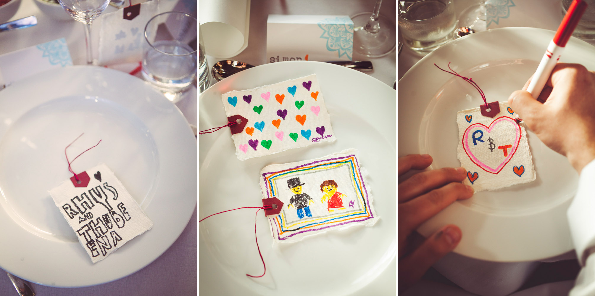 guests make hand made cards