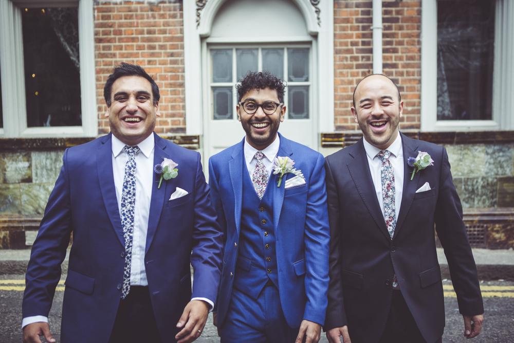 Roshan with his groomsmen
