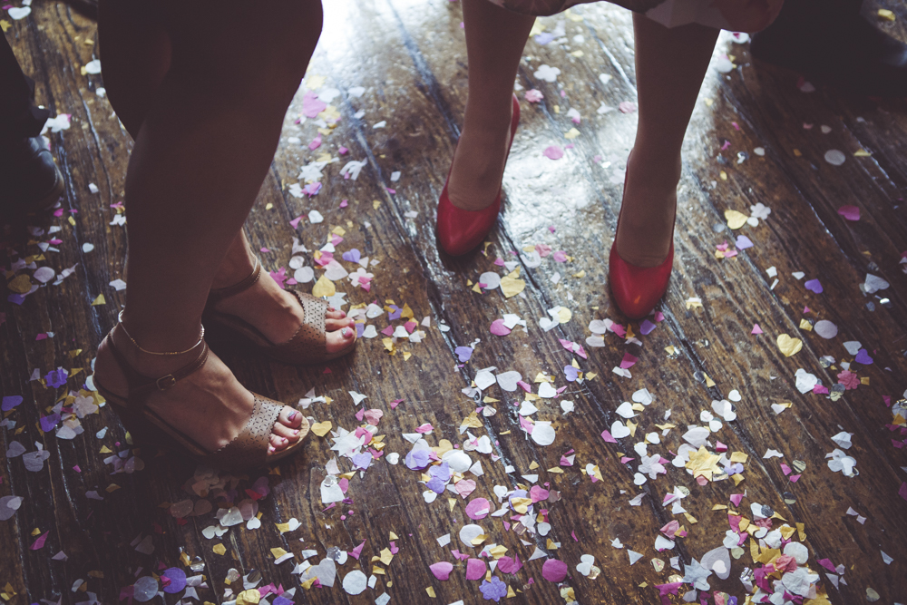 confetti and shoes