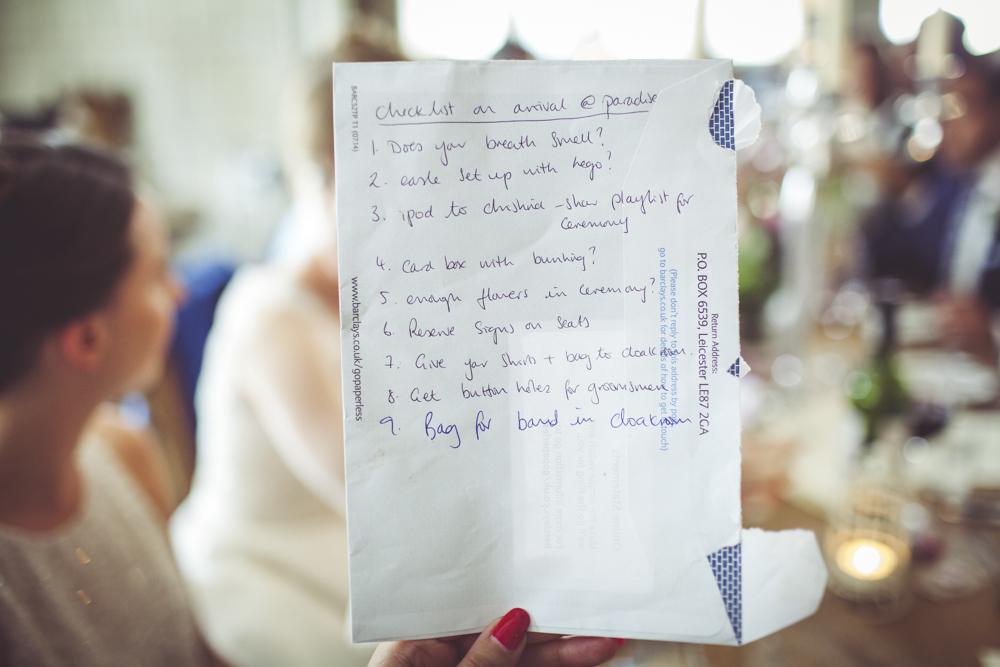 hand written speech