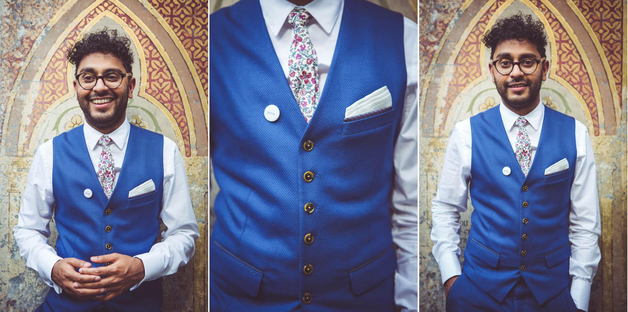 roshan's Ted Baker wedding suit