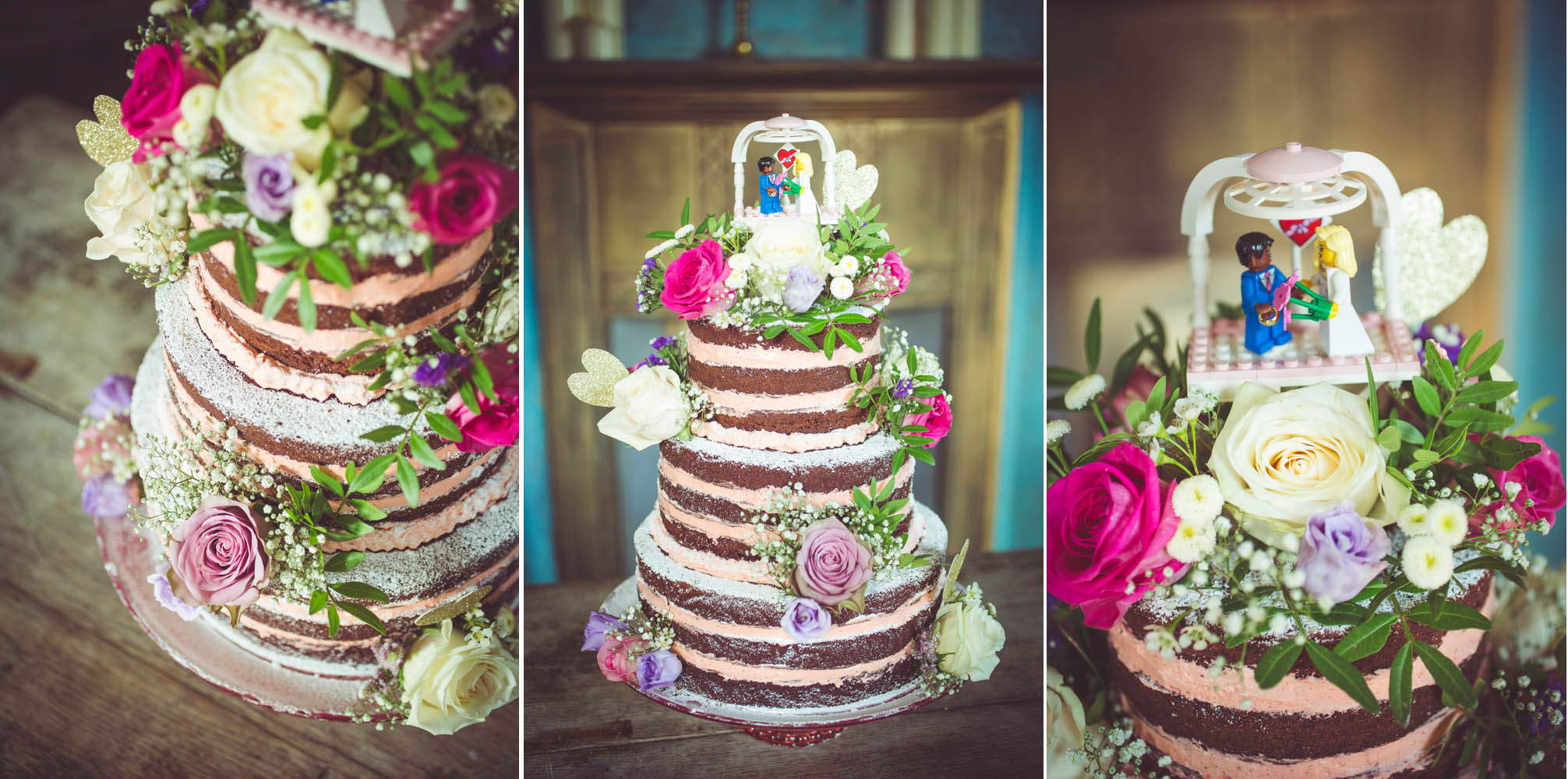 details of the wedding cake