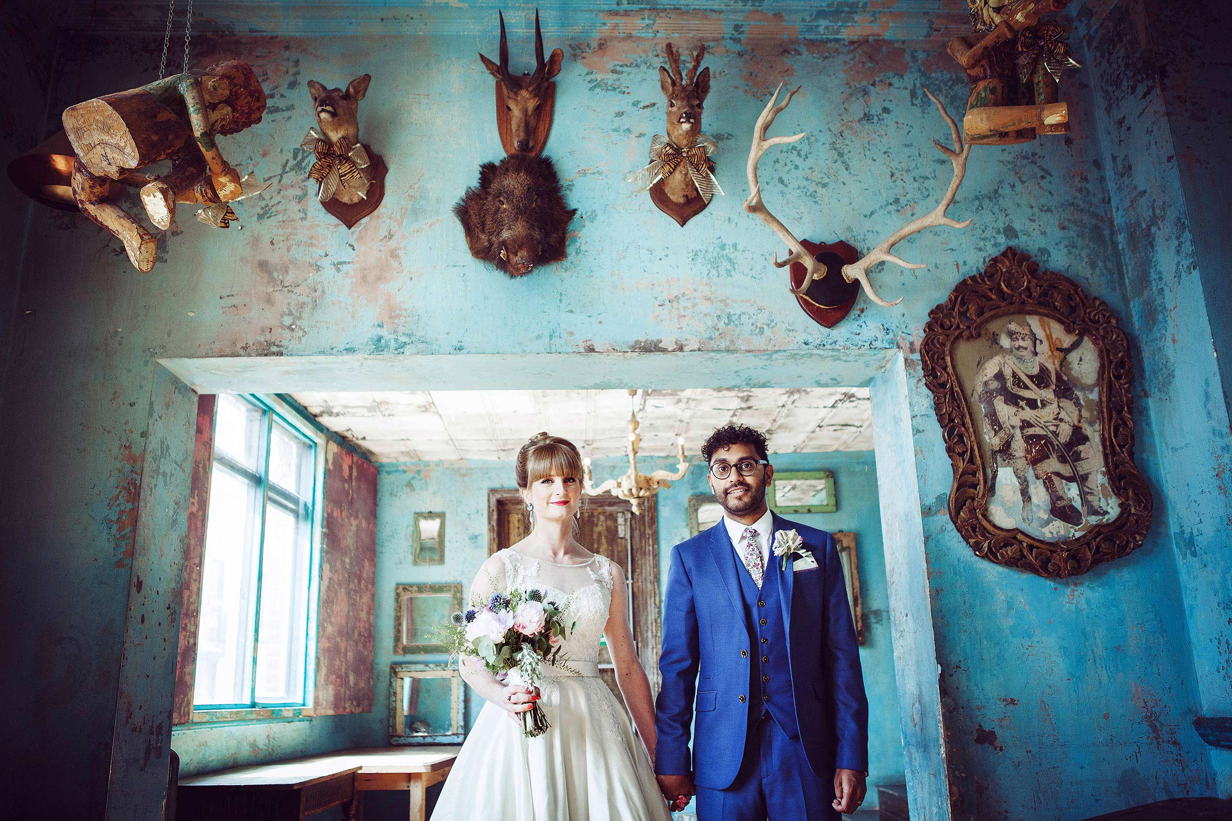 Alternative wedding photography at The Paradise by Way of Kensal Green London
