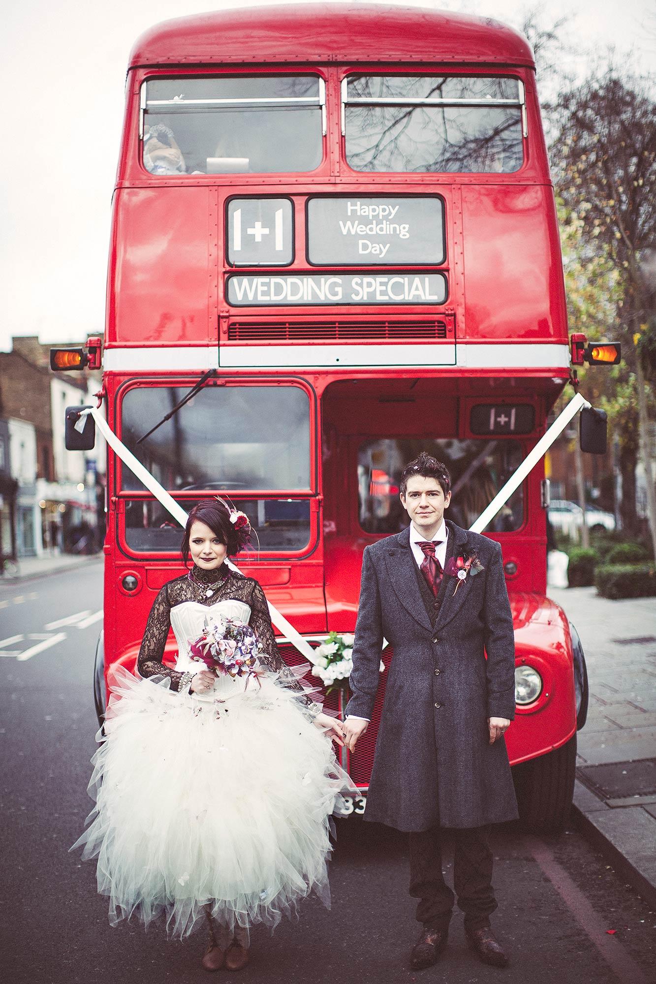Red London Wedding Bus