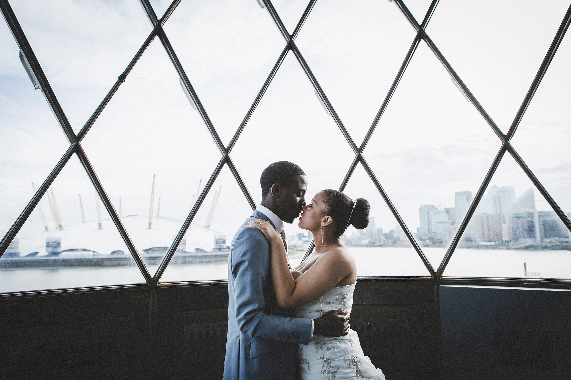 Wedding Photos in the Lighthouse, Trinity Buoy Wharf