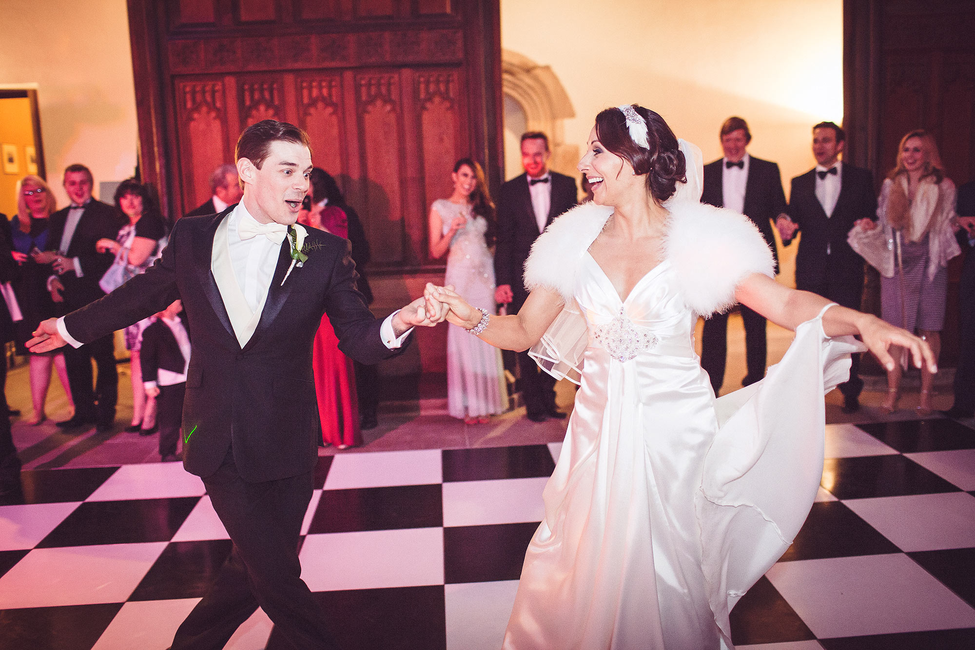 first dance at Eltham palace wedding