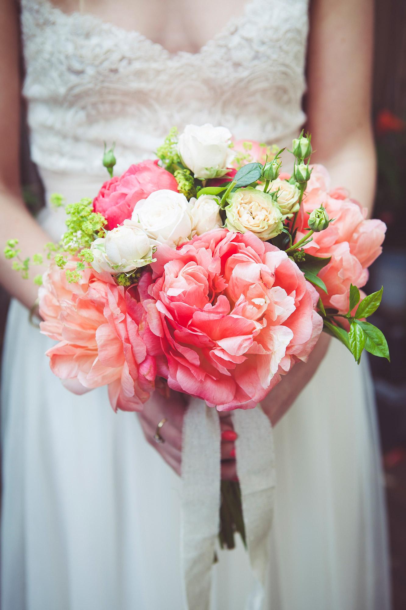 Bouquet at wedding at The Asylum, Peckham