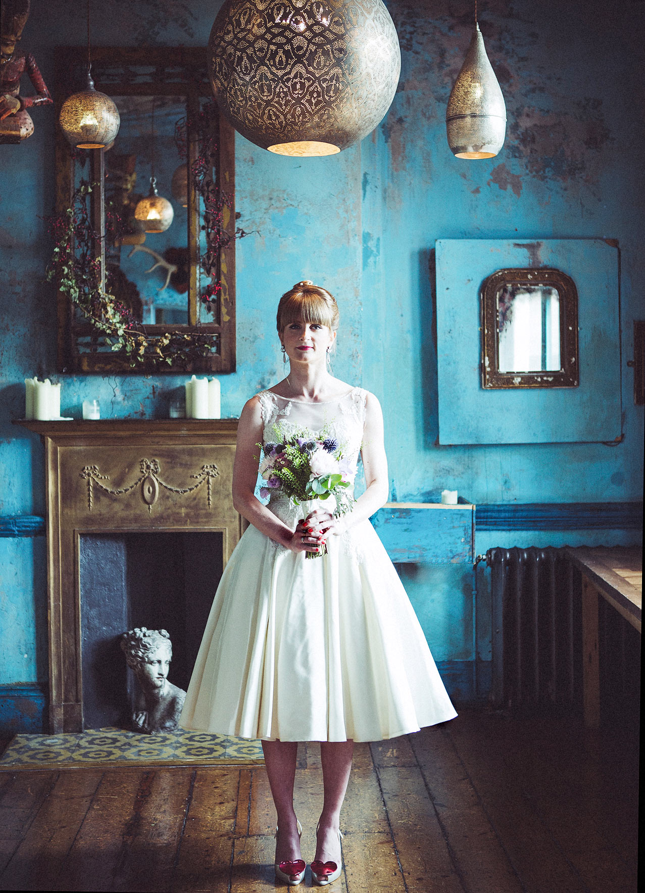 Portrait of bride at The Paradise by Way of Kensal Rise