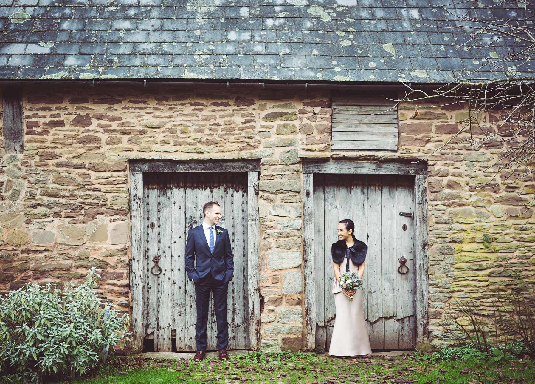 Rebecca and David's wedding at Dewsall Court